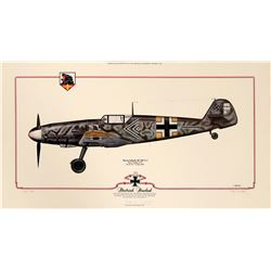 Aviation Framed Print  DlETRICH HRABAK'S MESSERSCHMITT Bf 109 F-2  (108976)