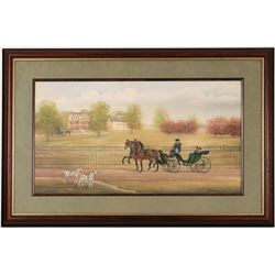 Sunday Buggy Ride Print by Judith Zimmers Blunn  (114386)