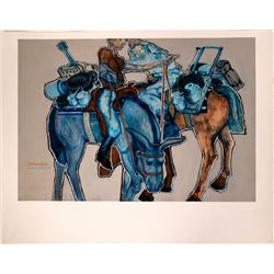 "William Forrest Martin High Quality Giclee Print of Original Painting ""Panhandlers""  (109946)"