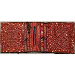 Turkish/Afghan  Double Sided Wool Woven Saddle Bag  (122302)