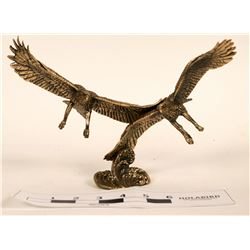 Limited Edition Gold Vermeil Double Eagle Sculpture  (120646)