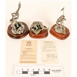 Pewter American Indian Figures (3)  (120640)
