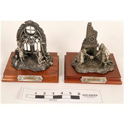 Pewter Christmas Themed Chilmark Statues (2)  (120639)