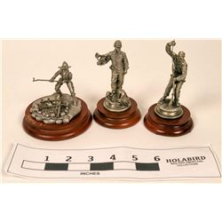 Pewter Miniature Civil War Era Figurines (3)  (120647)