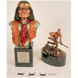 Pewter Native American Sculptures by Chilmark (2)  (120637)