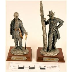 Pewter Statues of Civil War Union Generals (2)  (120649)