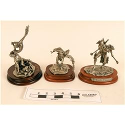 Pewter Statues of Native Americans and Eagles (3)  (120641)