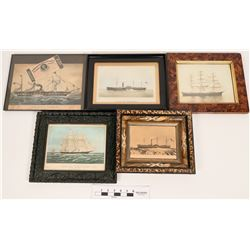 Ship Photos, Lithographs and Drawings  (120850)