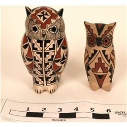 Artisan Native American Owls, probably New Mexico (2)  (121689)