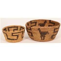 Two Antique Tohono O'dham Devil Claw Baskets  (120821)