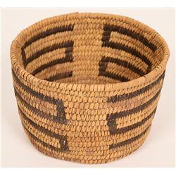 Vintage Cylindrical Tohono O'dham Basket  (120835)