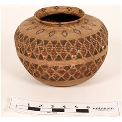 Tulare Mono Bottleneck Coiled Basket  (120818)