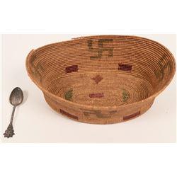 Antique Swirling Logs Basket  (120979)