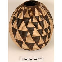 Large Decorative Handmade Basket  (121684)