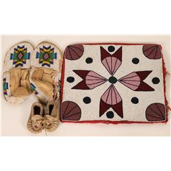 Beaded Moccasins and Bag  (121664)