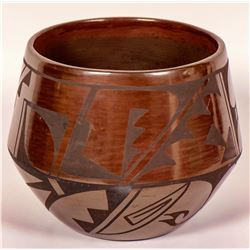 "Carlos ""Sunrise"" Dunlap Brown-ware Pot  (121004)"