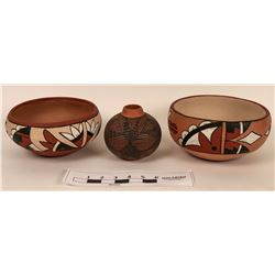 Three New Mexico American Indian Pottery Pieces  (121778)