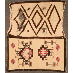 Odd Group of Five Damaged Navajo Rugs  (121264)