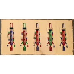 Yei Navajo Rug  (121486)