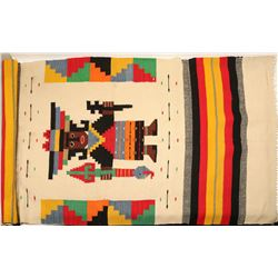 "Large Mexican Blanket /  "" Medicine Man""  (109599)"