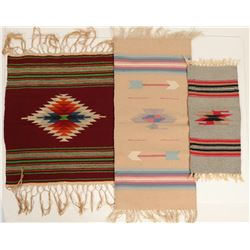 Mexican Table Runner Rugs / 3 Items.  (109598)