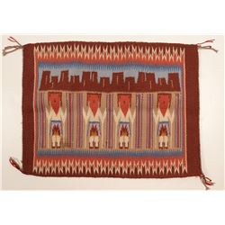 Miniature Navajo Yei Rug  (109594)