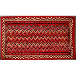 Navajo Red Mesa Native American Rug - 5 ft x 8.5 ft - Beautiful Example!  (122244)