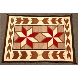 Navajo Rug, 8 Pointed Center Star Design  (122301)