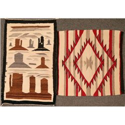 Two Navajo Weavings  (121268)