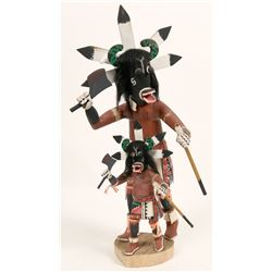 Black Ogre Kachinas by Thomas Nez  (120967)
