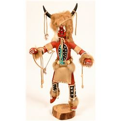 Brown Buffalo Dancer Kachina  (120971)