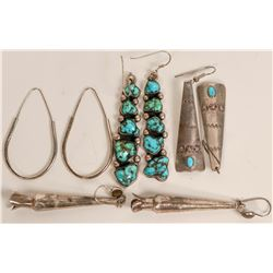 Long Silver Earrings  (121188)