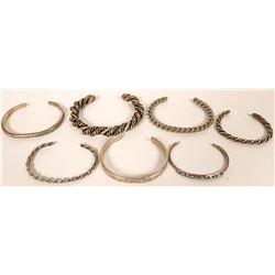 Navajo Silver Cuff Bracelets  (121181)