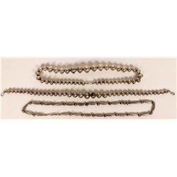 Navajo Silver Necklaces  (121186)