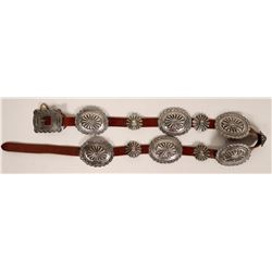 Navajo Silver Repousse Concho Belt  (121002)