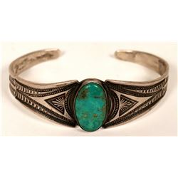Old Style Silver/Turquoise Bracelet  (121028)