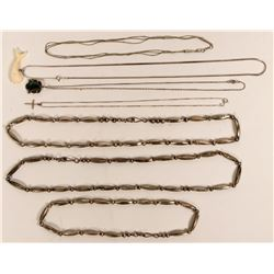 Seven Silver Necklaces  (121200)