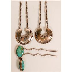 Vintage Navajo Manta Pins Used to Secure Shawls, Sashes and Dresses (121205)