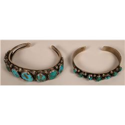Vintage Navajo Turquoise Cuffs  (121099)