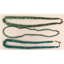 Three Vintage Heishi Necklaces  (121102)