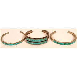 Turquoise Inlay Cuffs--Zuni  (119488)