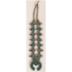 Vintage Zuni Squash Blossom Necklace  (120990)