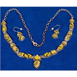 Bumble Bee Jasper Necklace Set  (121995)