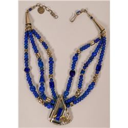 Christin Wolf Lapis Necklace  (121999)