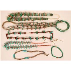 Five Vintage Native American Necklaces  (121104)