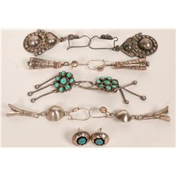 Group of Navajo and Zuni Earrings  (121192)