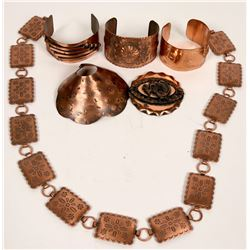 Group of Vintage Solid Copper Jewelry  (120983)