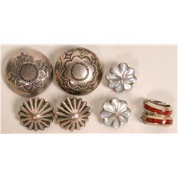 Native American Clip Earrings  (121198)