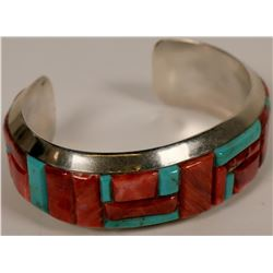 Turquoise and Spiny Oyster Bracelet  (117030)
