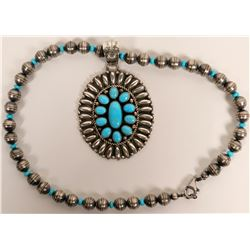 Turquoise Pendant Necklace  (117002)